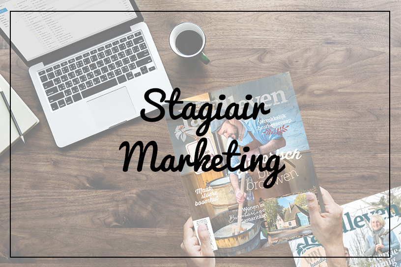 Vacature - Stagiair marketing