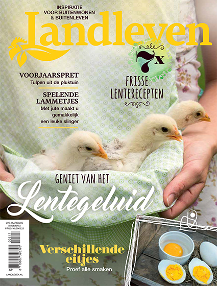 Landleven 3, april 2017. Cover met kuikentjes.